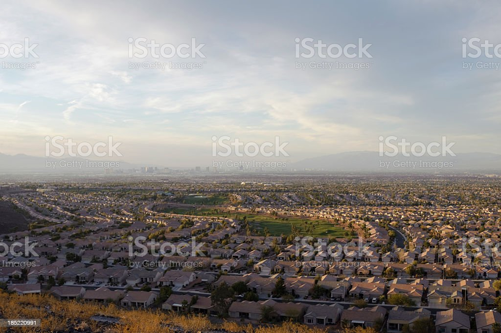 vegas valley, wide angle royalty-free stock photo