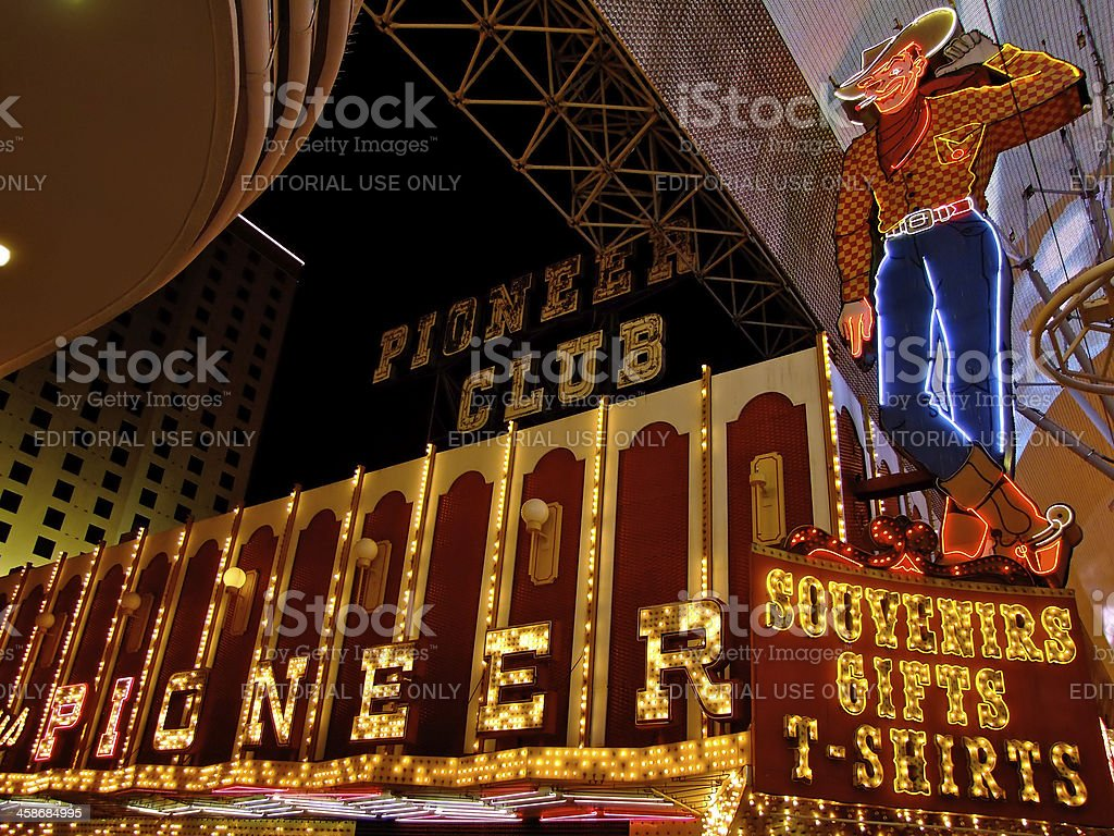 Vegas Vic and the Pioneer Club stock photo