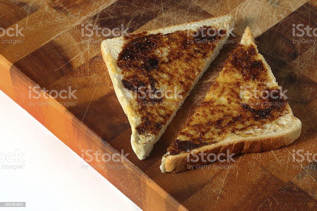 Vegemite or Marmite on Toast stock photo