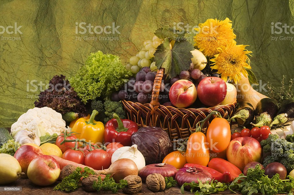 Vegetable and fruits food still-life royalty-free stock photo