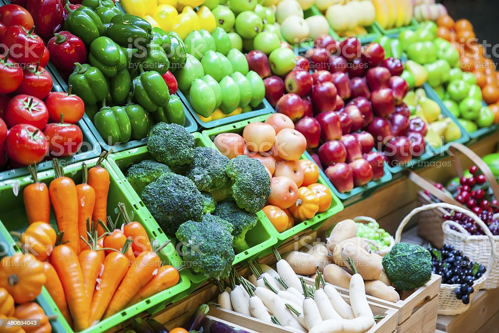 vegetable and fruits stock photo