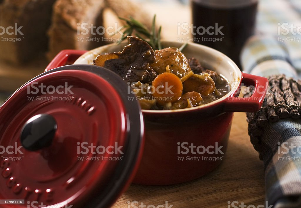 Vegetable and moose stew stock photo