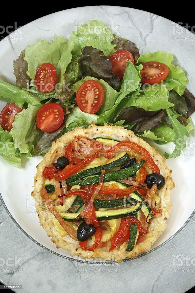Vegetable And Ricotta Tart royalty-free stock photo