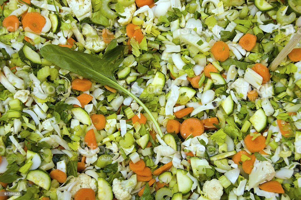 Vegetable Background chopped for a salad royalty-free stock photo