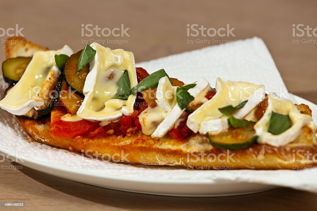Vegetable Baguette with Camembert royalty-free stock photo
