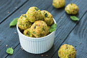 Vegetable balls with zucchini and Parmesan cheese
