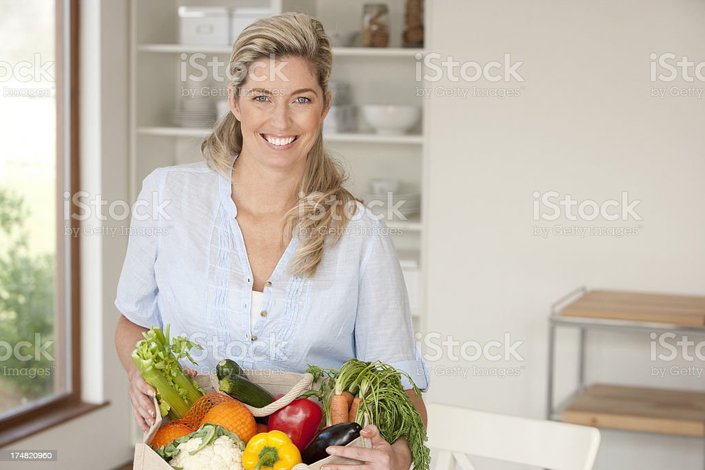 Vegetable basket royalty-free stock photo