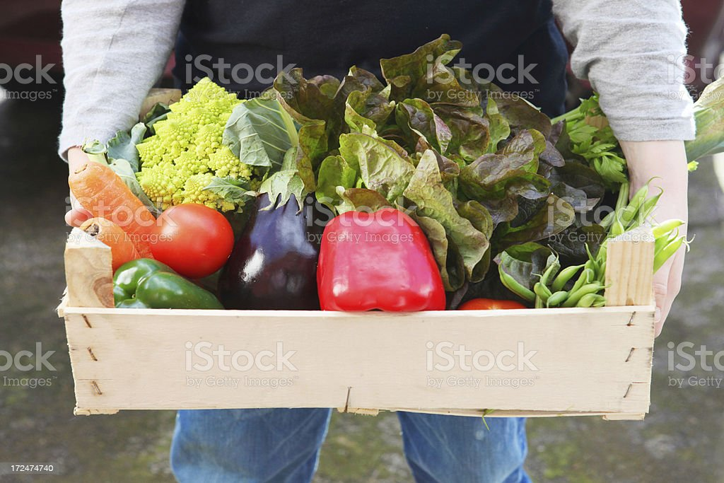 vegetable box royalty-free stock photo