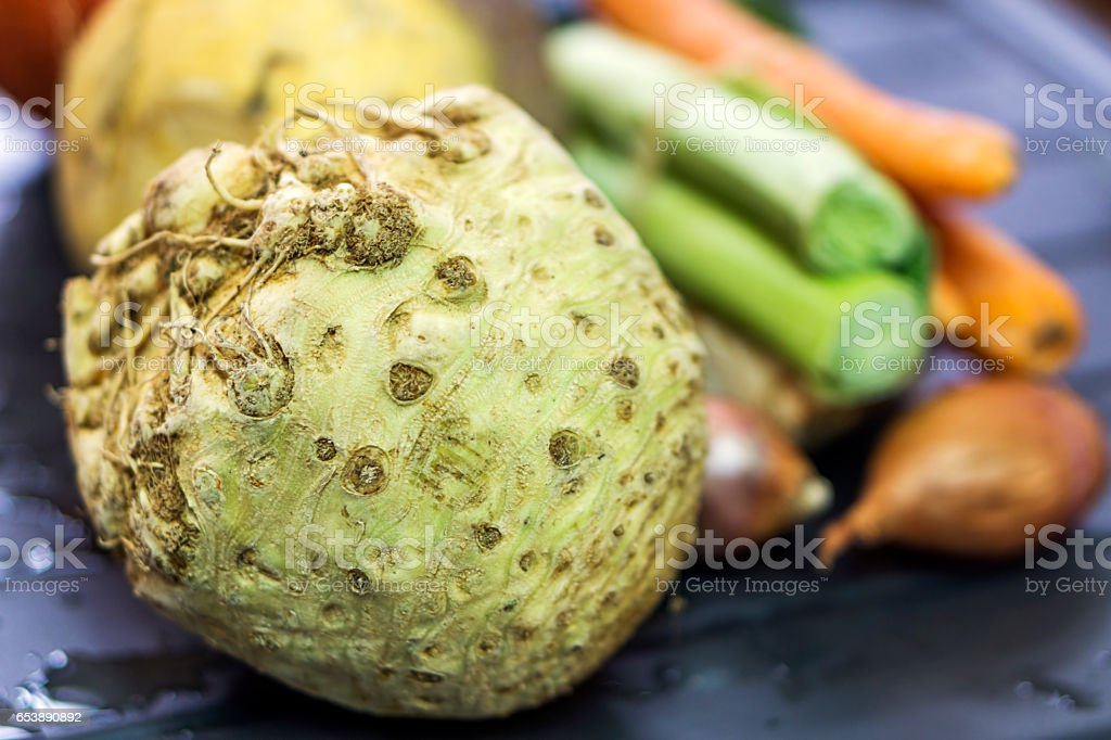 Vegetable broth stock photo