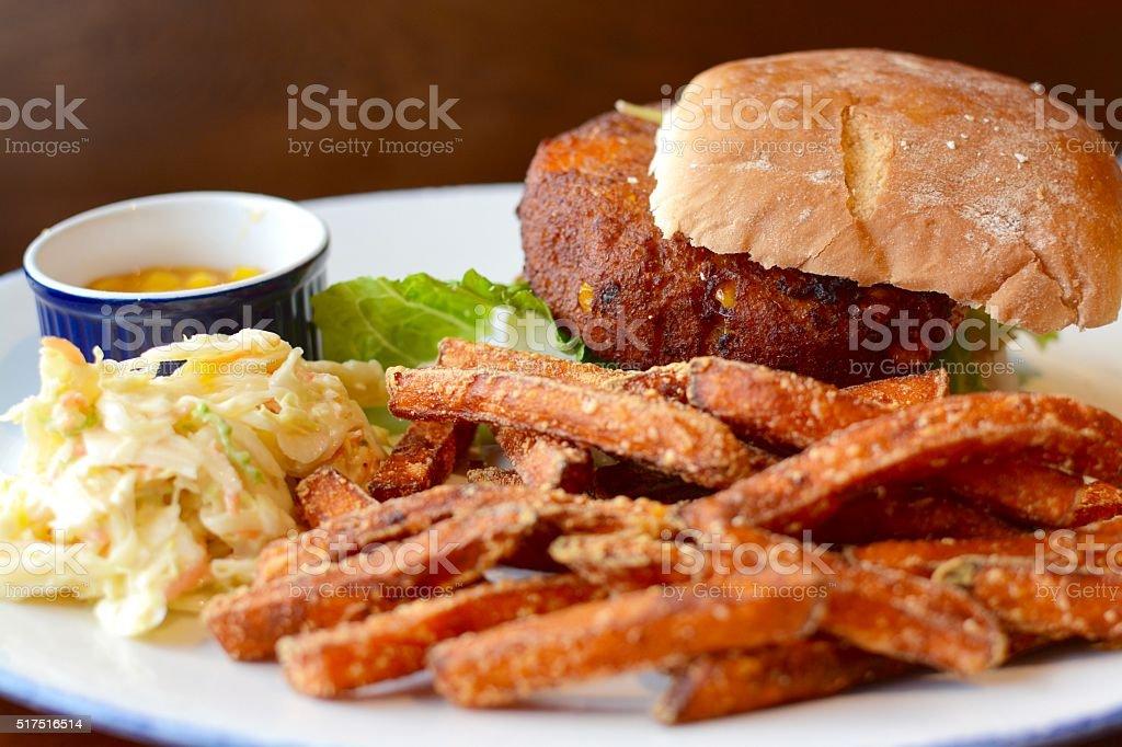 Vegetable Burger stock photo