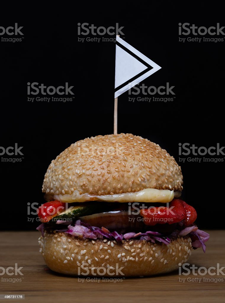 vegetable burger with no meat stock photo