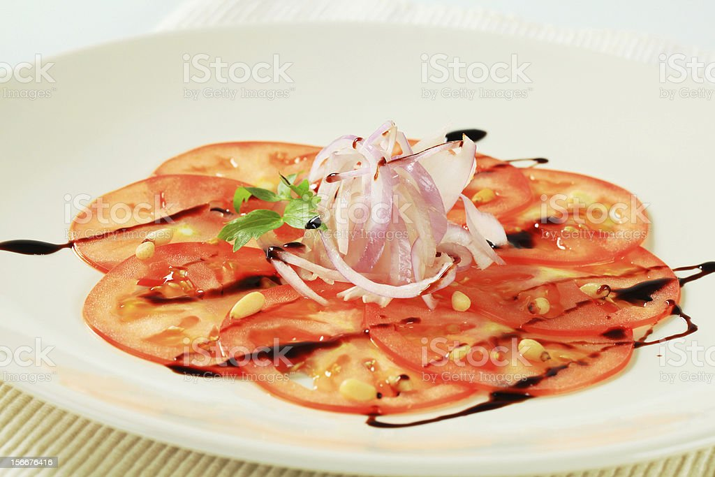 Vegetable Carpaccio royalty-free stock photo