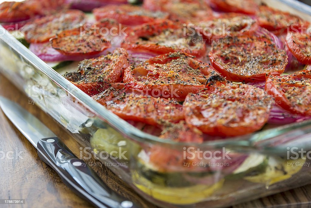Vegetable casserole royalty-free stock photo