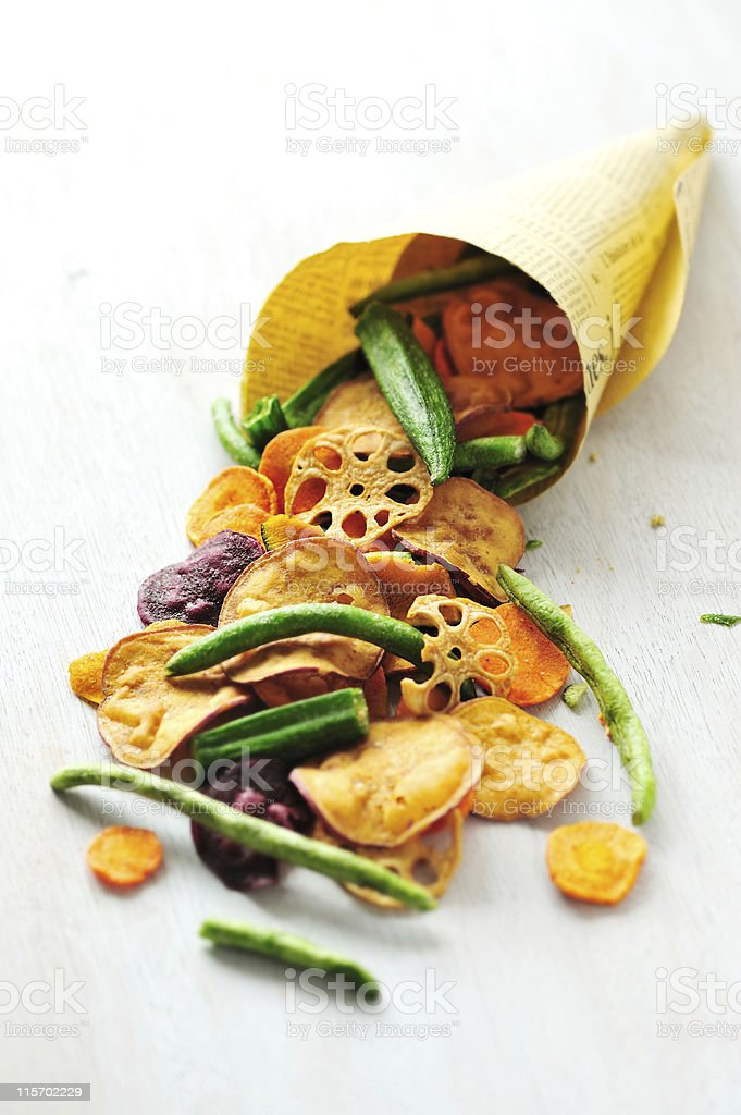 Vegetable Chips royalty-free stock photo