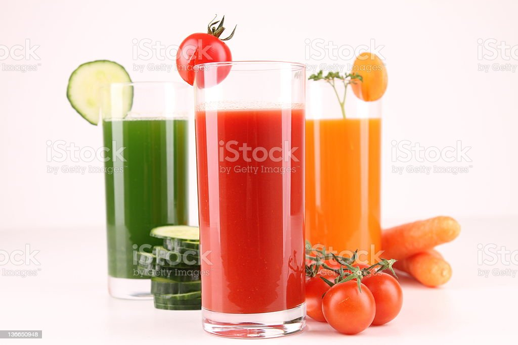 vegetable cocktail stock photo