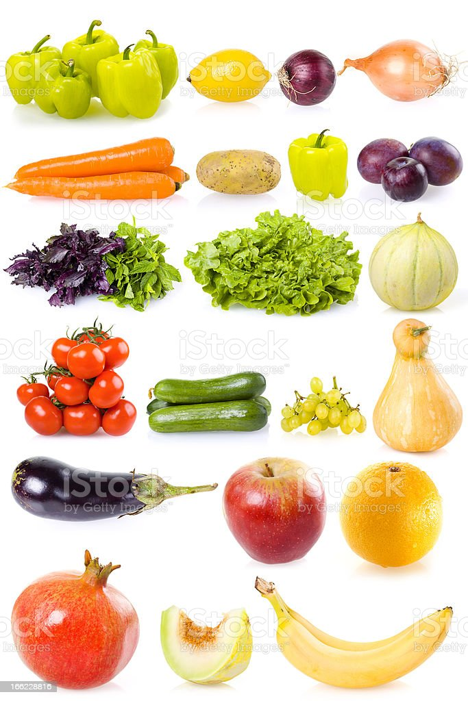 Vegetable Collection Isolated royalty-free stock photo
