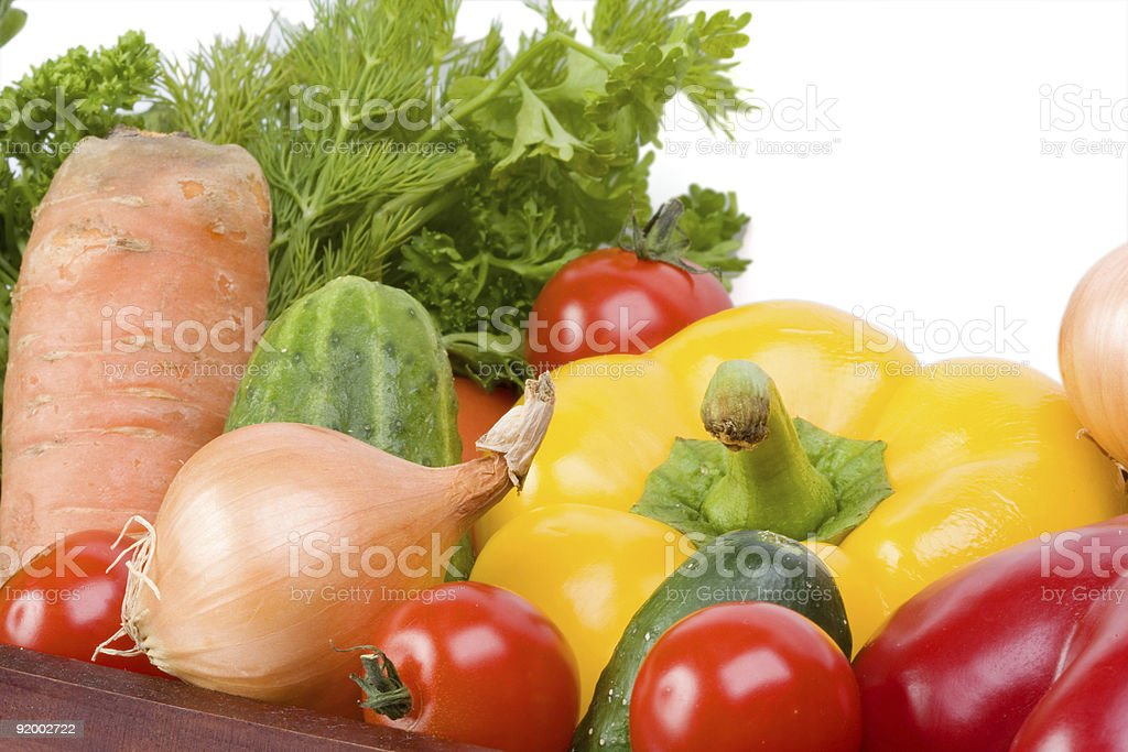 Vegetable collection on a white background royalty-free stock photo
