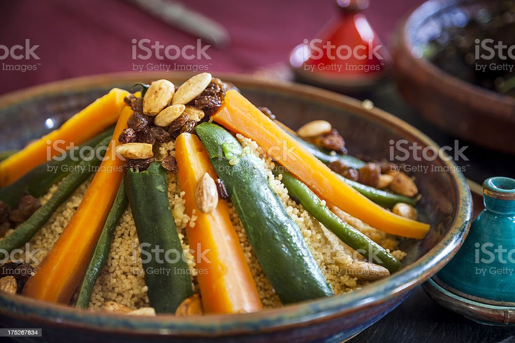 Vegetable couscous stock photo