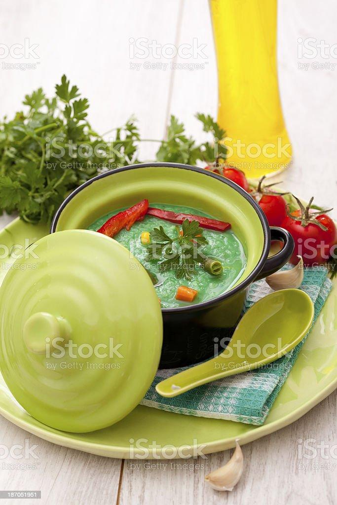 vegetable  cream soup royalty-free stock photo