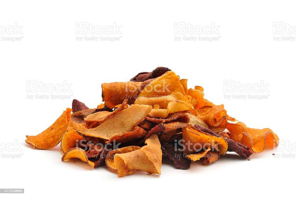 Vegetable Crisps stock photo