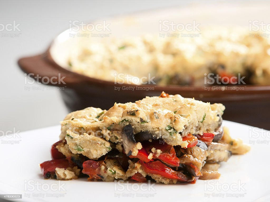 Vegetable crumble royalty-free stock photo