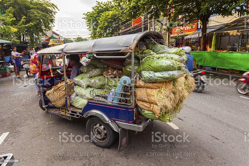 Vegetable delivery, Bangkok, Thailand royalty-free stock photo