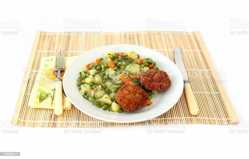 Vegetable dish royalty-free stock photo