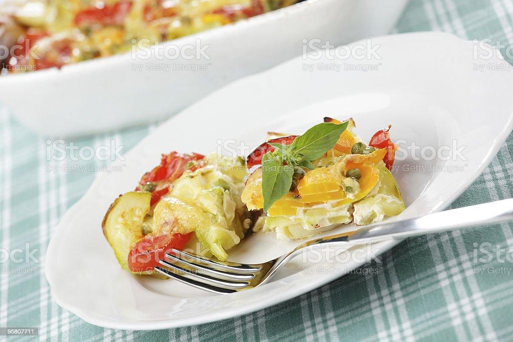 Vegetable gratin stock photo