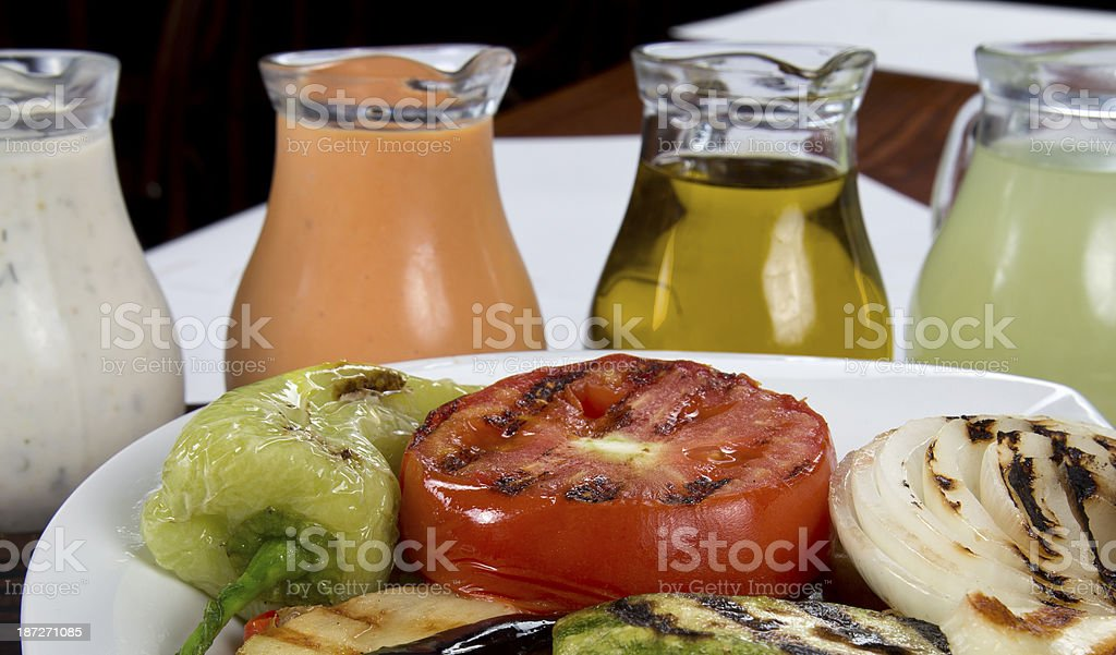 vegetable grill stock photo