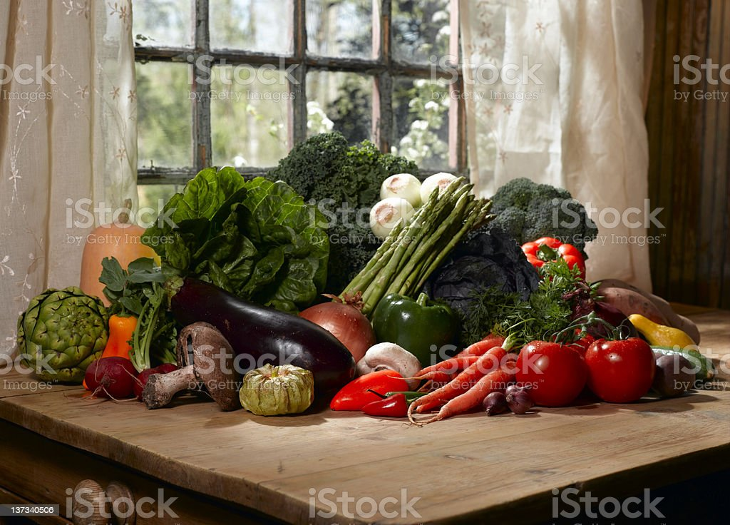 Vegetable Harvest royalty-free stock photo