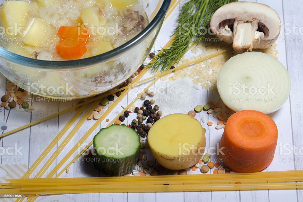 vegetable ingredients for cookong dinner stock photo