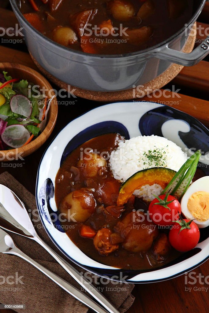 Vegetable Japanese curry rice stock photo