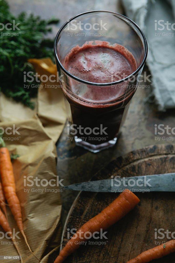 Vegetable juice drink stock photo