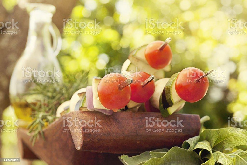 Vegetable kebab royalty-free stock photo