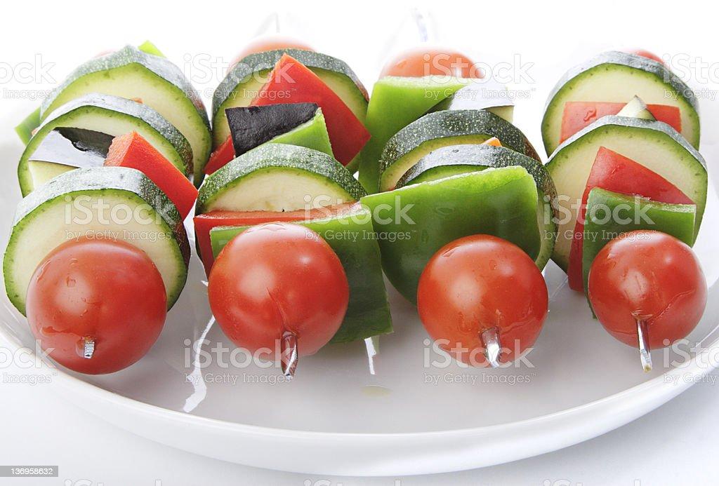 Vegetable Kebabs royalty-free stock photo