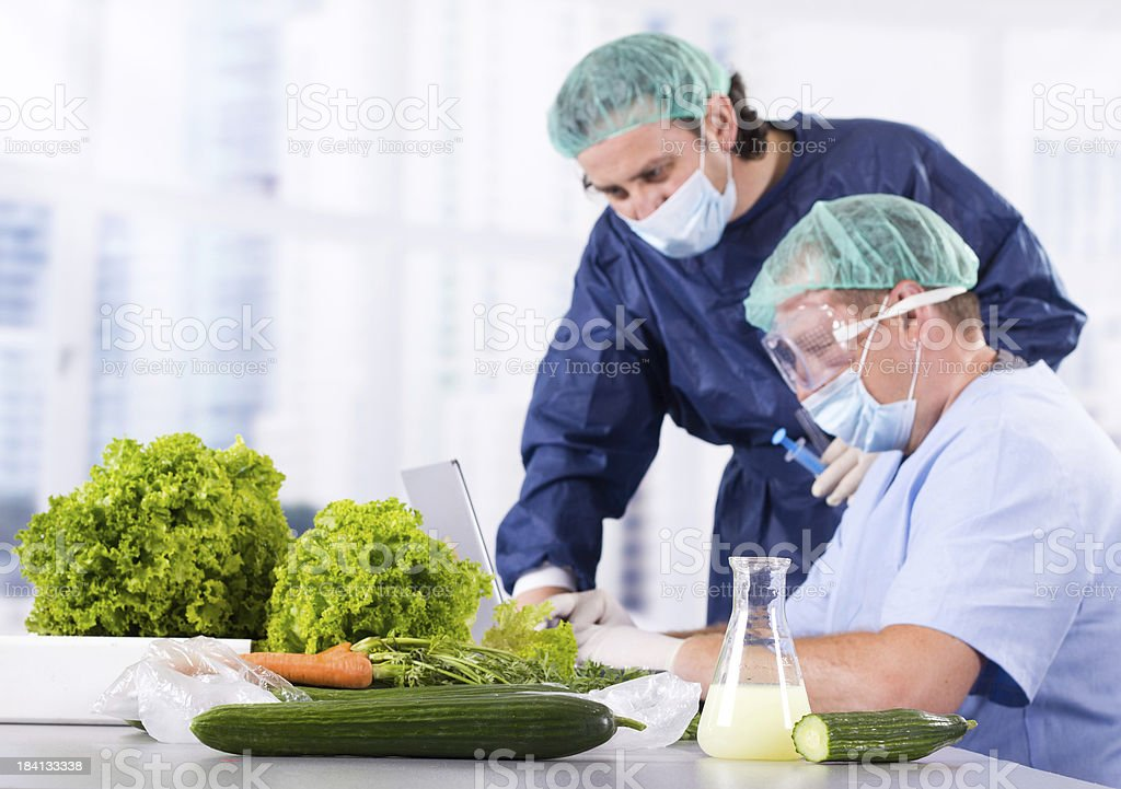 Vegetable laboratory royalty-free stock photo