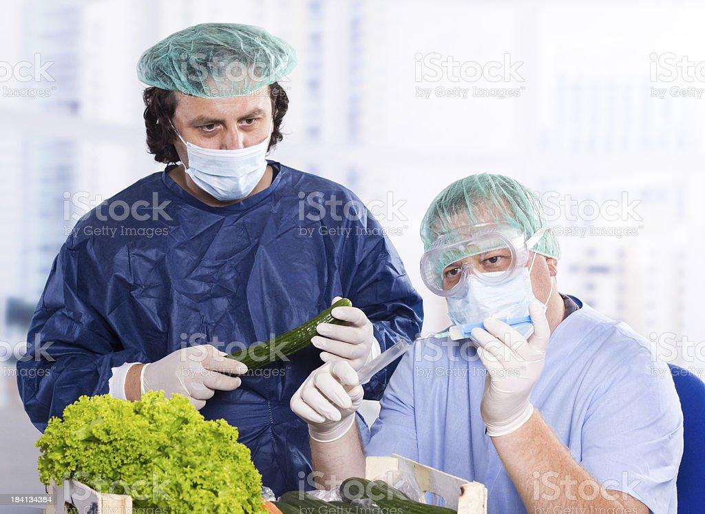 Vegetable laboratory stock photo
