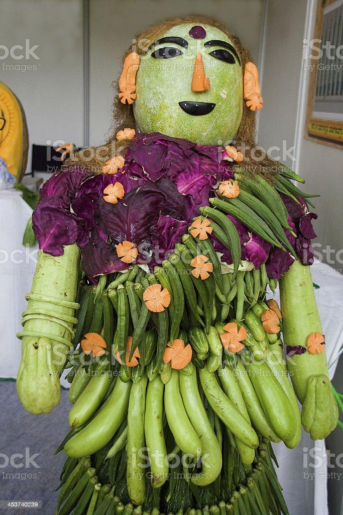 Vegetable Lady stock photo