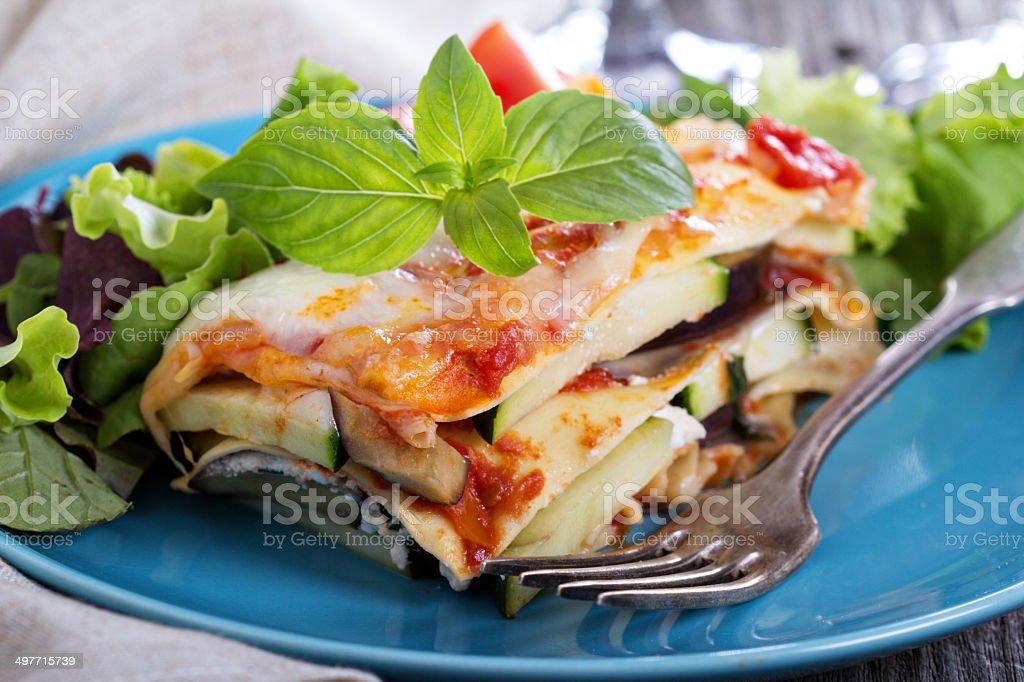 Vegetable lasagna stock photo