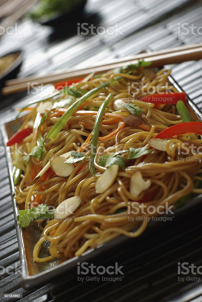 Vegetable Lo Mein stock photo