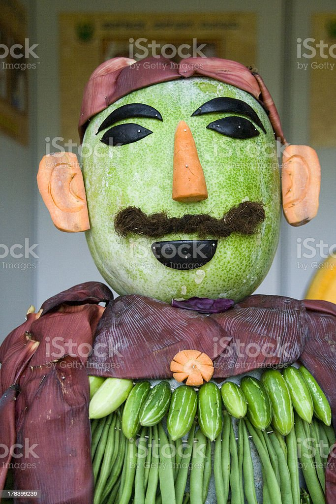 Vegetable Man stock photo