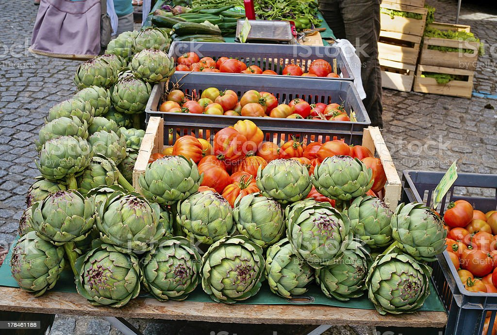 vegetable market in summer day royalty-free stock photo
