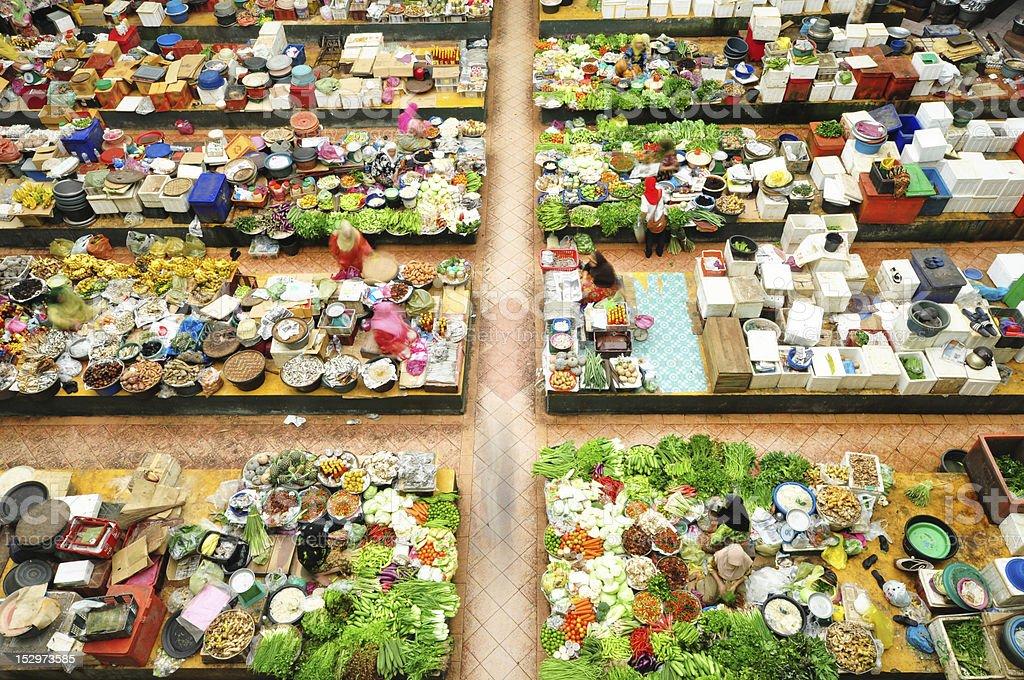 Vegetable market stock photo