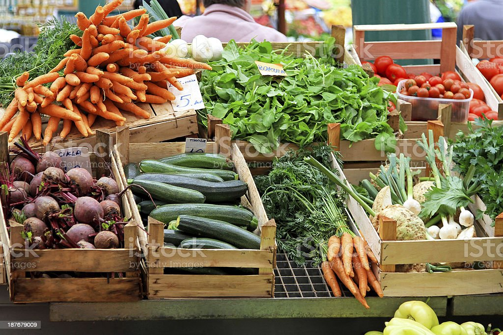 Vegetable market stock photo