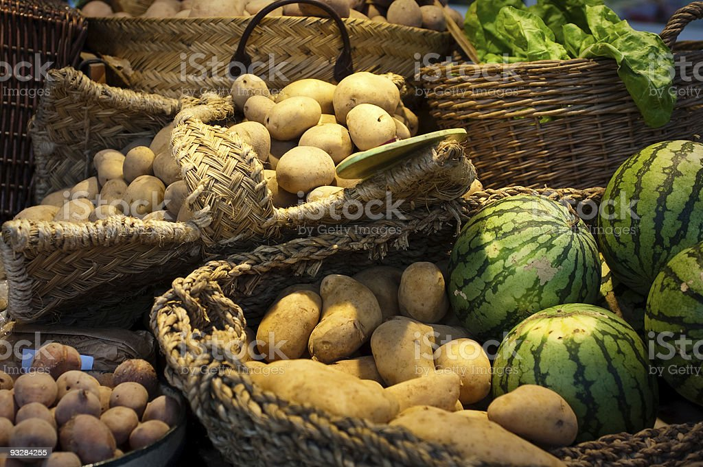 Vegetable market royalty-free stock photo
