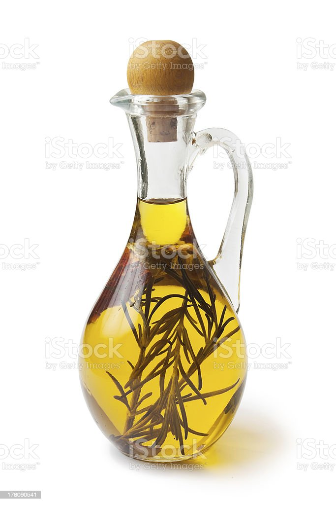 Vegetable oil with spices royalty-free stock photo