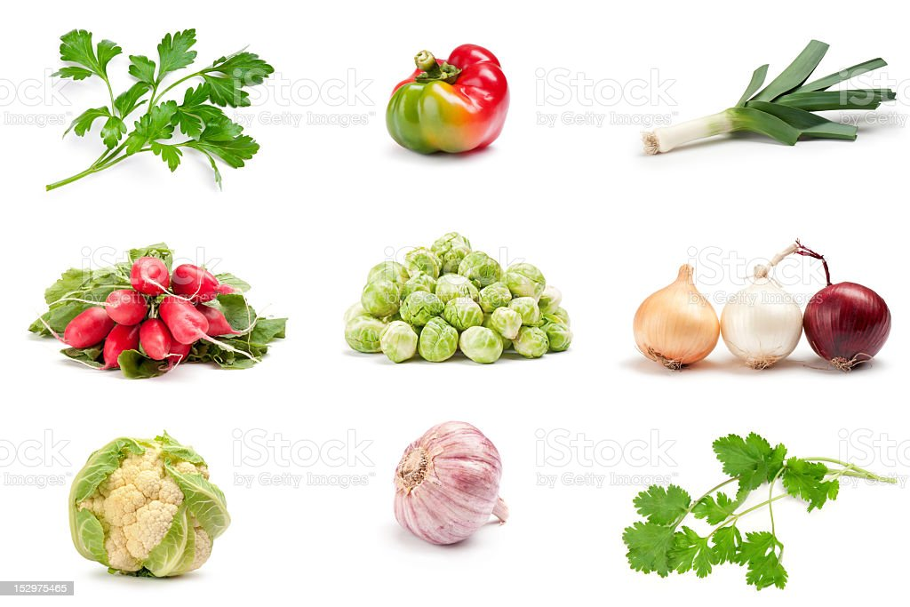vegetable on a white background royalty-free stock photo