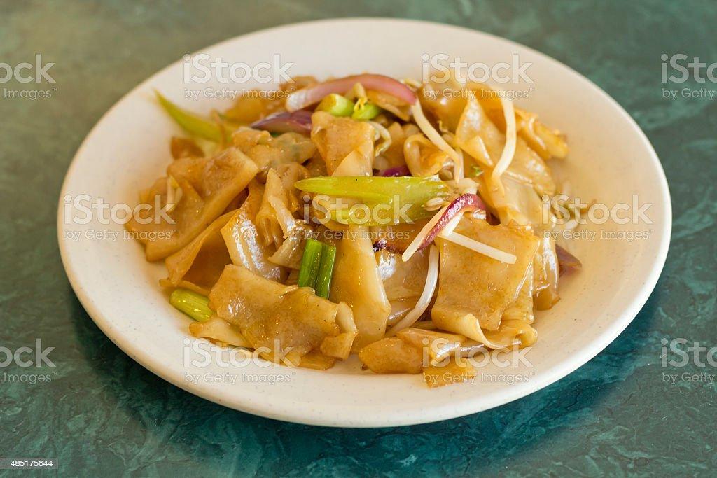 Vegetable Pad Thai stock photo