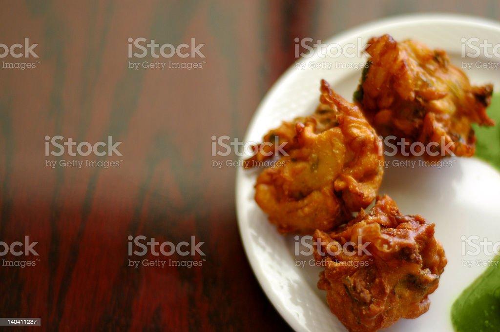 Vegetable pakora royalty-free stock photo