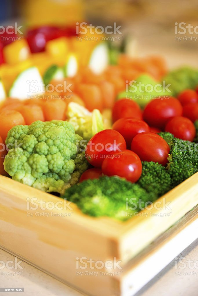 Vegetable party platter royalty-free stock photo
